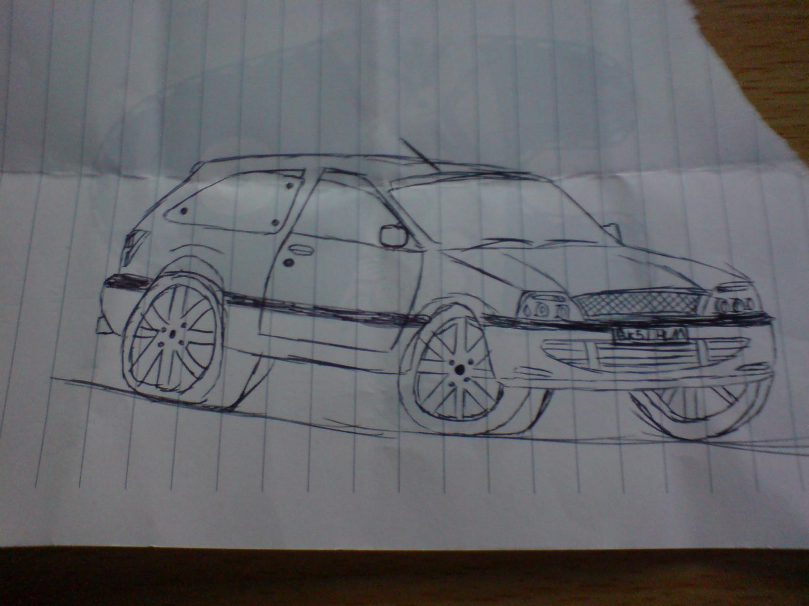 a doodle of my mk5, it was a slow day at work...