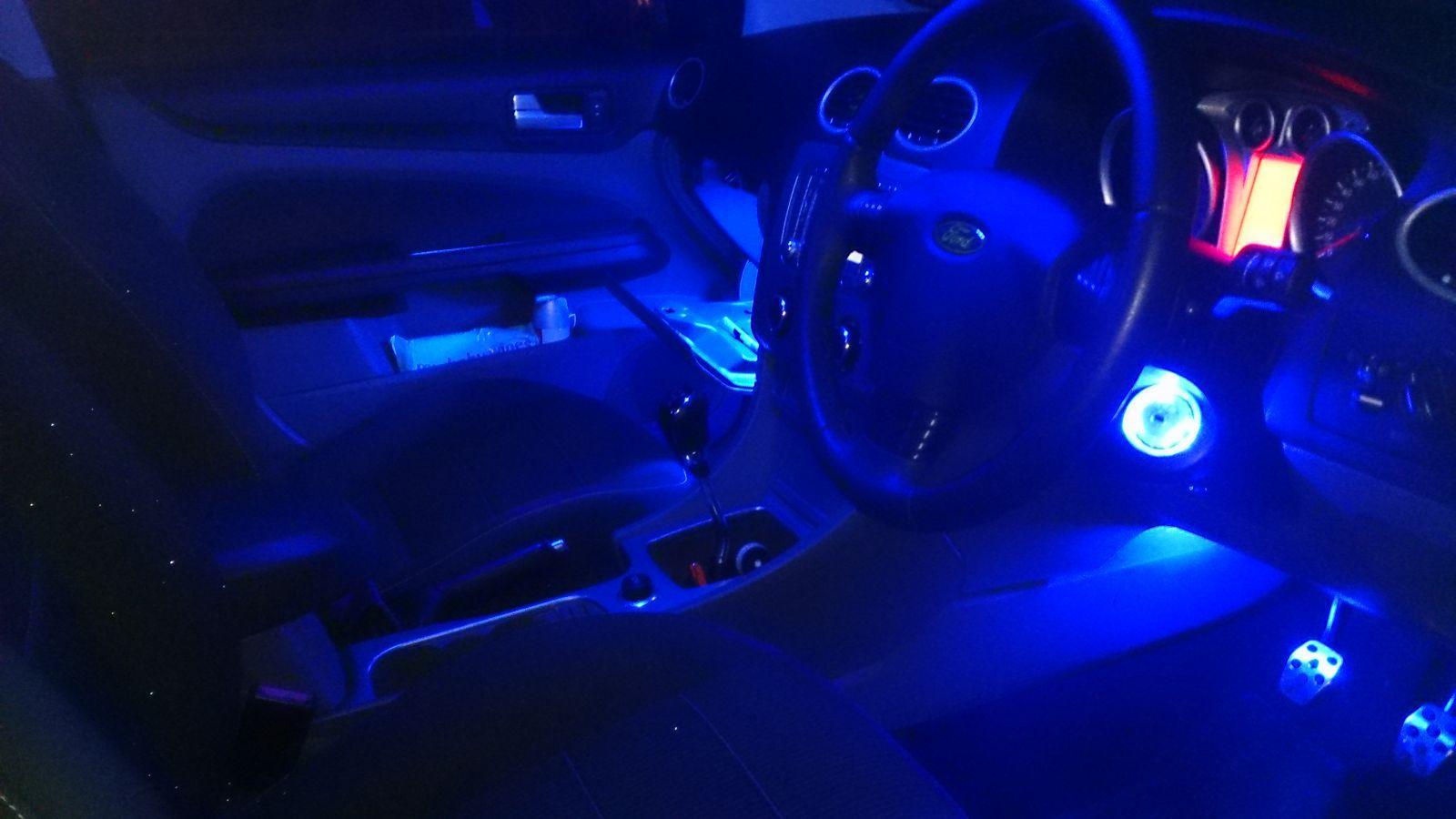 blue led interior finished