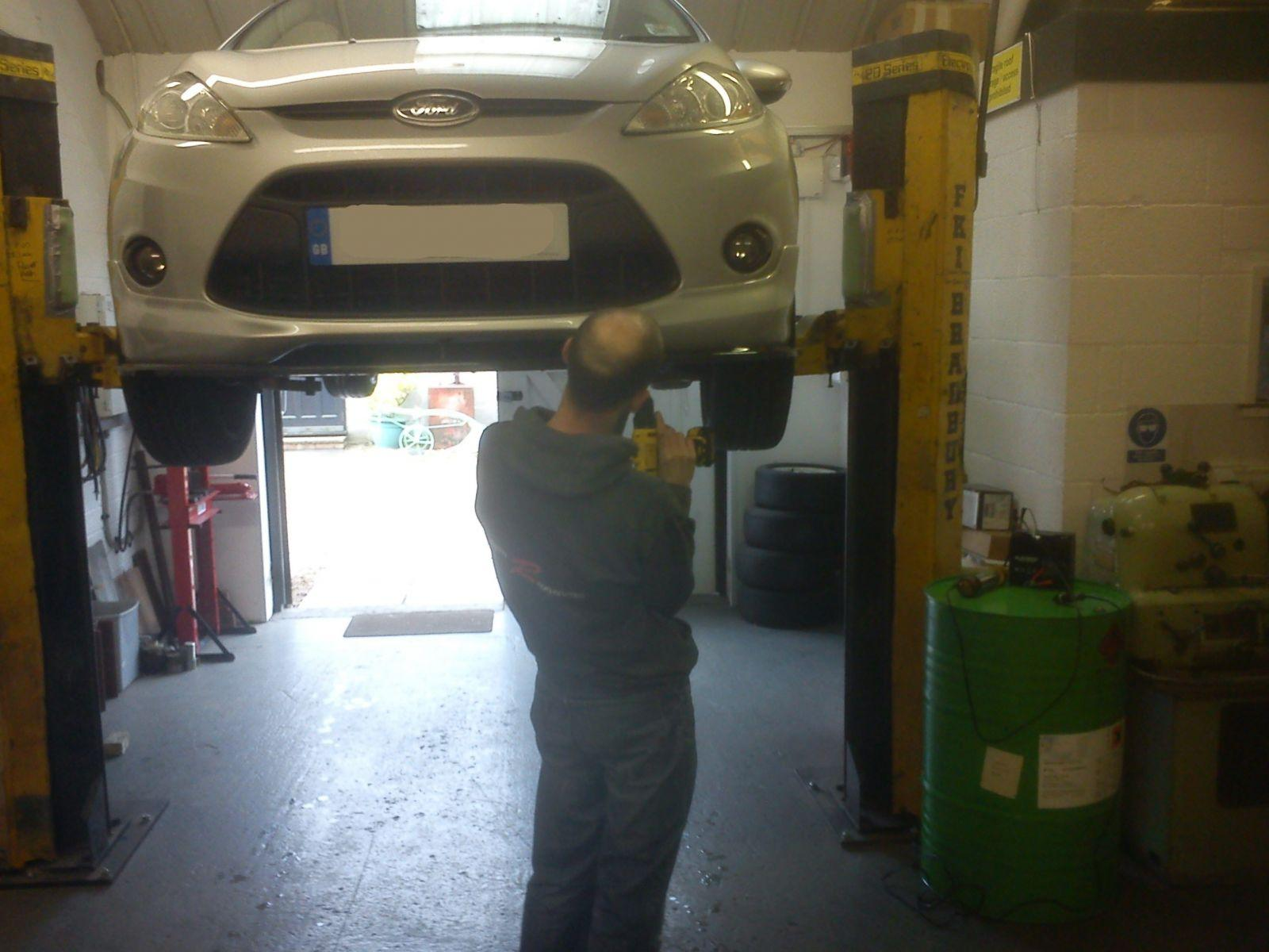 Splitters being fitted