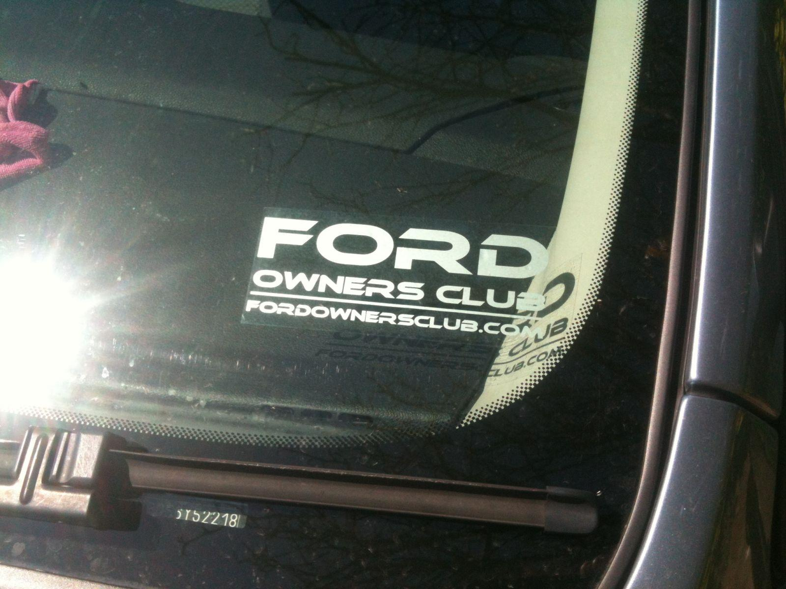 Ford Owners Club Sticker 2