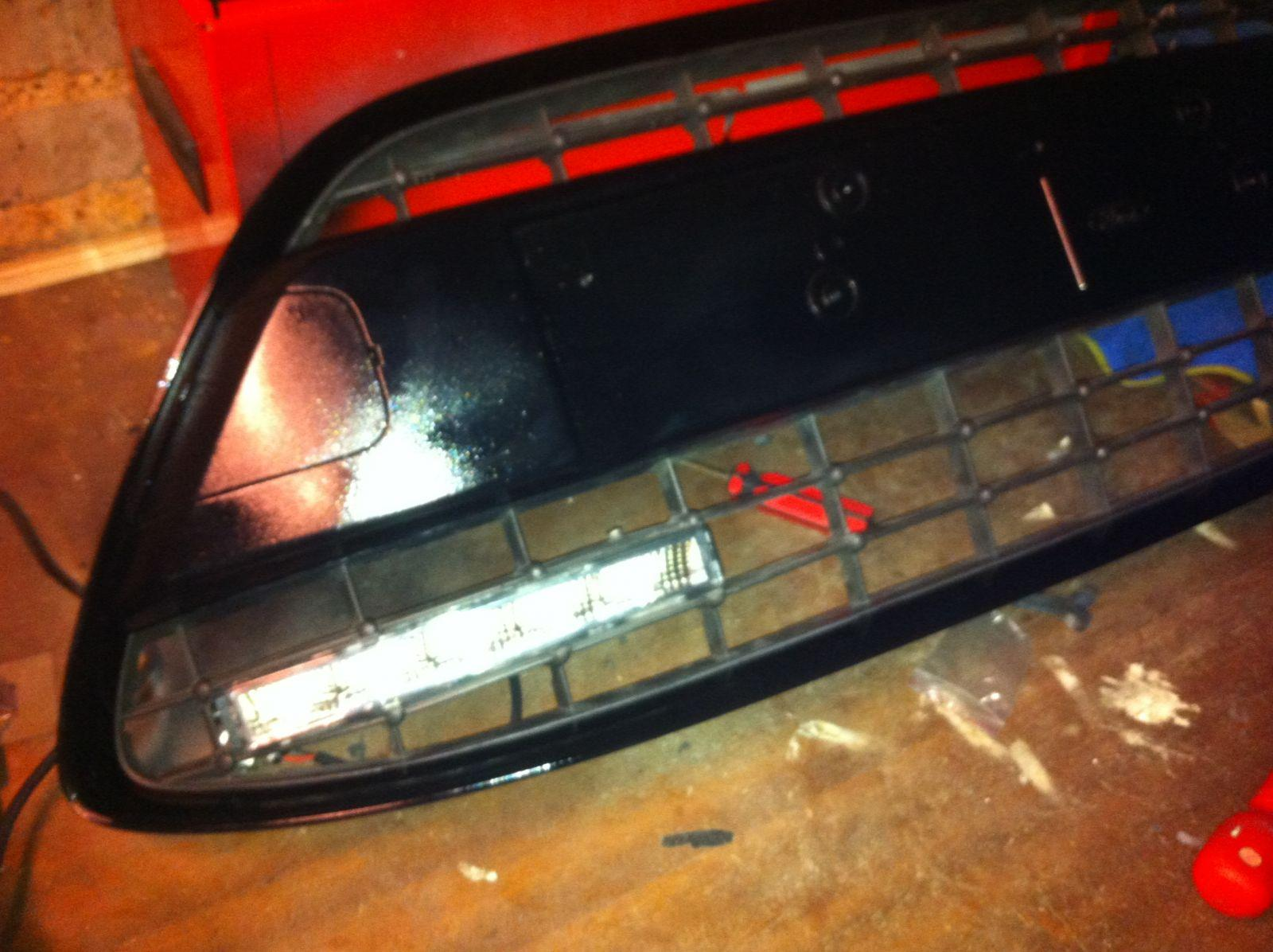DRL lights fitted in old grill