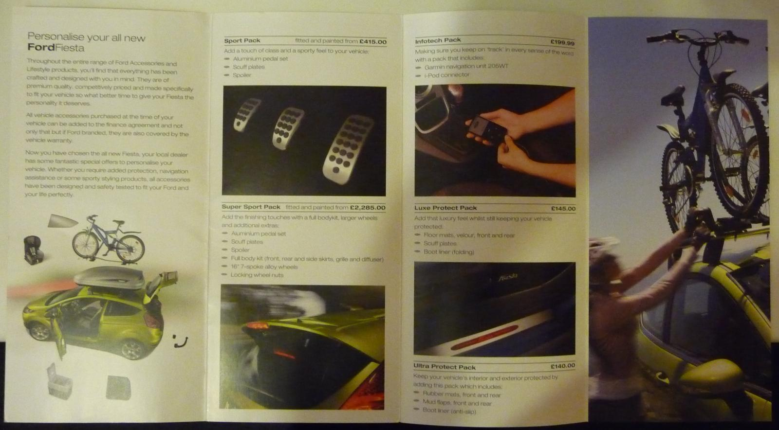 Ford Fiesta Accessory Brochure 2009 Part 1