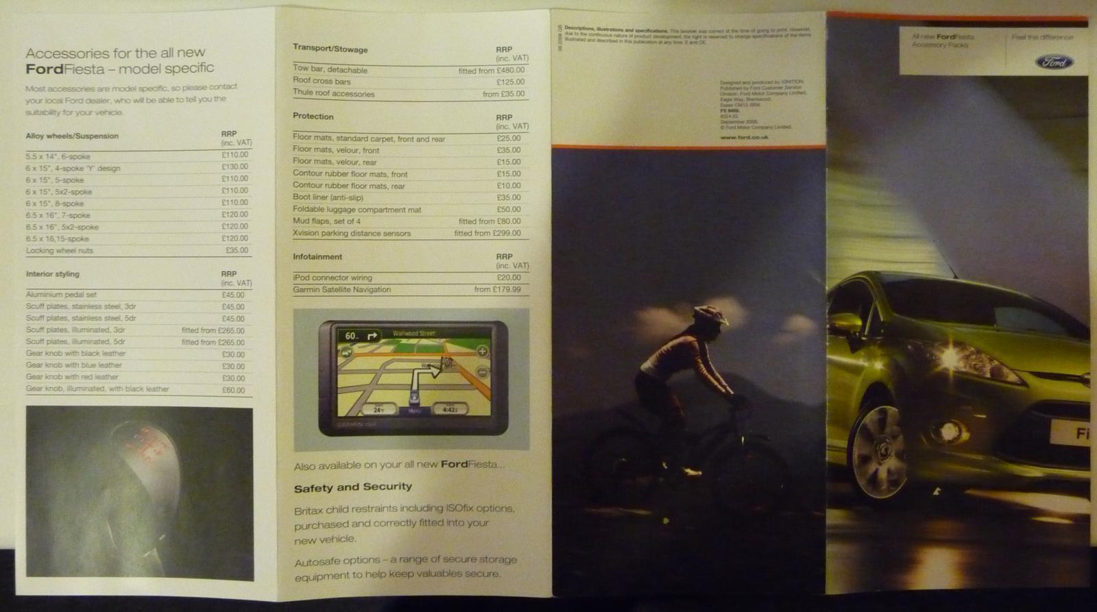 Ford Fiesta Accessory Brochure 2009 Part 2
