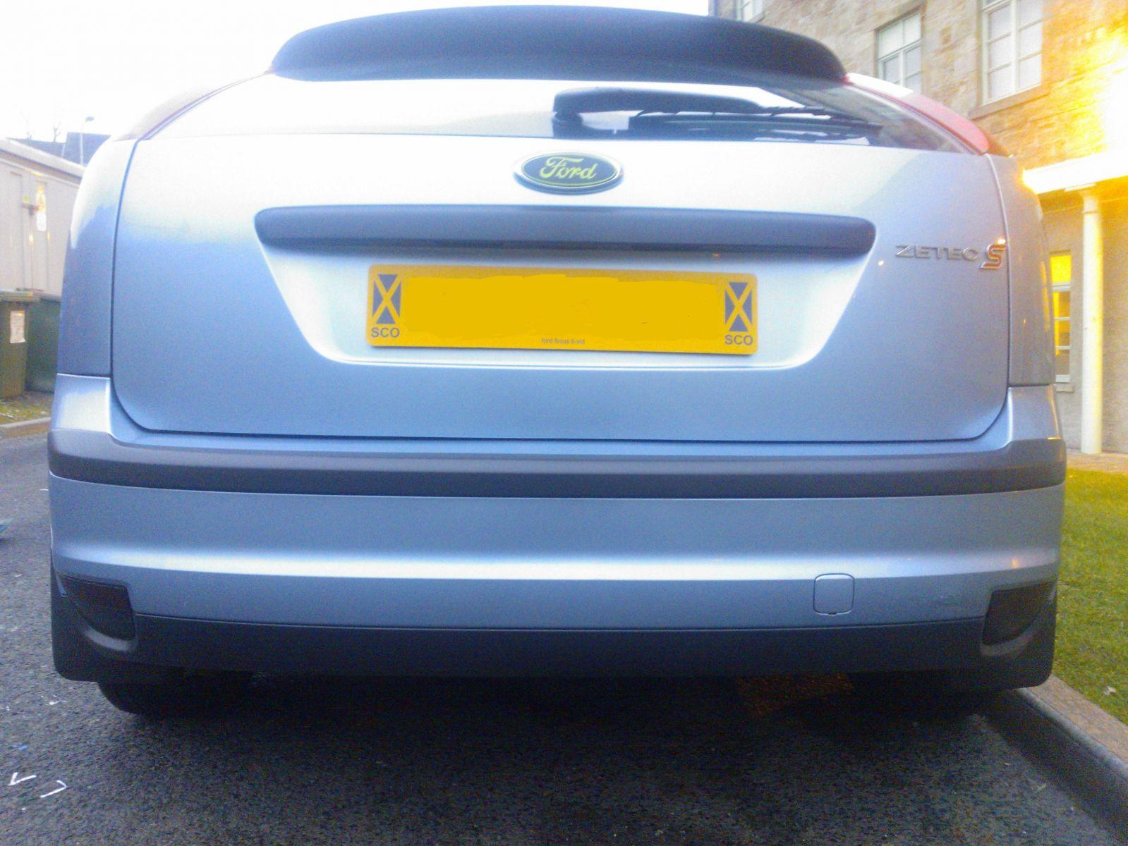 rear end with zetec s badge