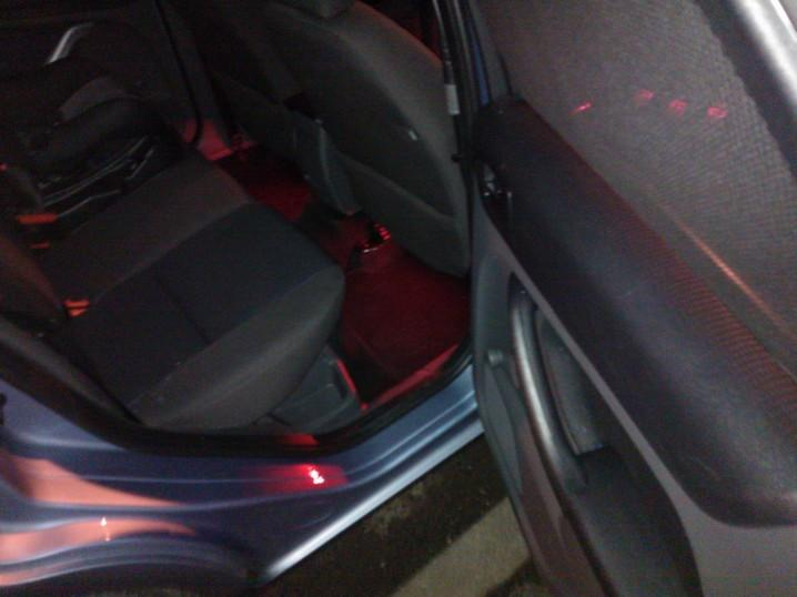 rear footwell leds