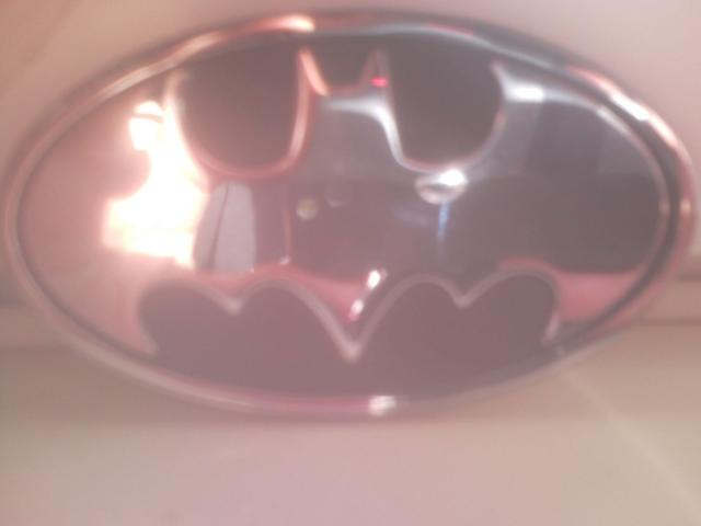 Chrome batman badge
