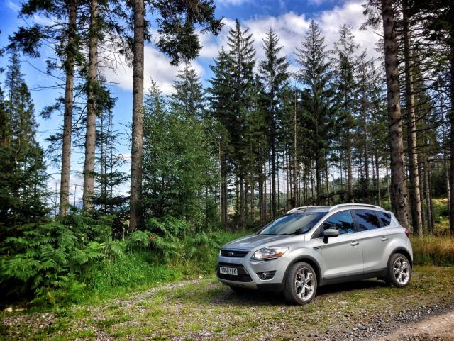 My Kuga on the Achray Forest Drive, Scotland