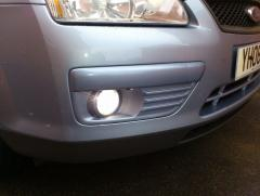 Colour coded fog light suround, upgraded fog light bulbs