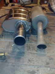 Replacing the old exhaust with a newer Janspeed stainless st