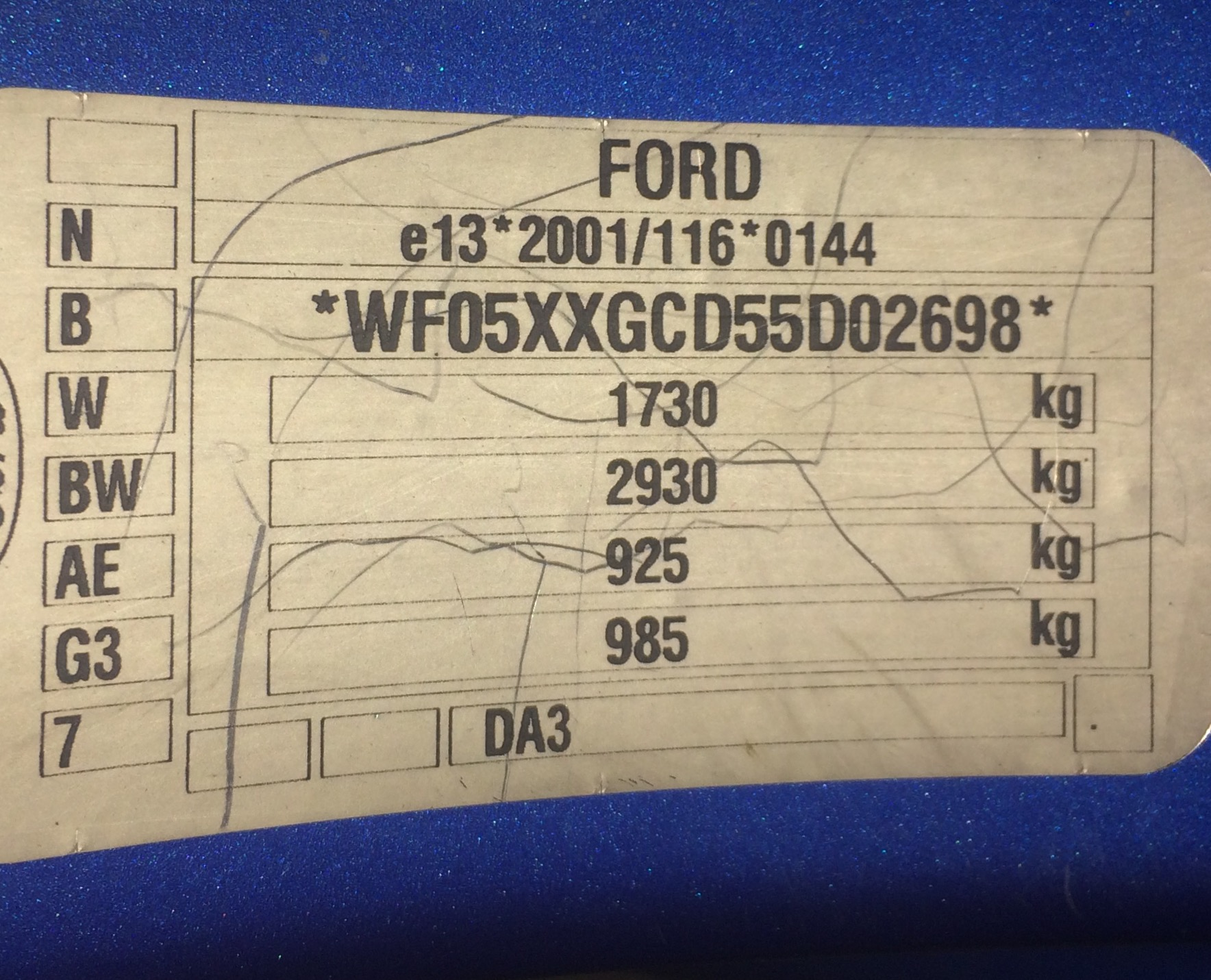 Colour Code Help Ford Focus Club Ford Owners Club Ford Forums