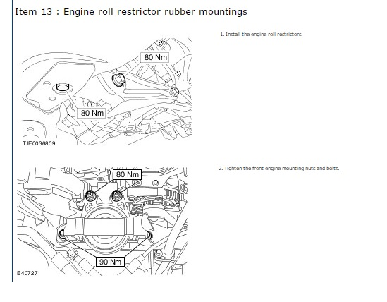 engine mount torques - ford focus club - ford owners club