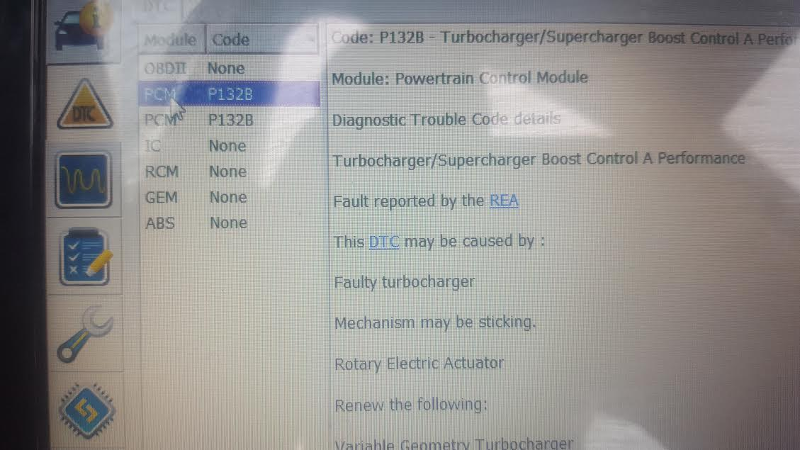 p132b ford mondeo code
