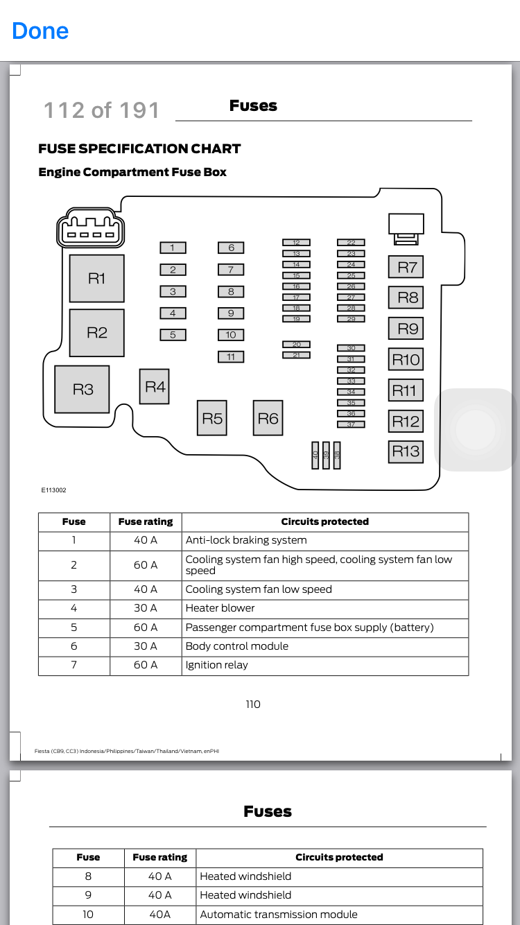 2013 fiesta fuse box diagram ford fiesta club ford owners club  fuse box in ford fiesta #11
